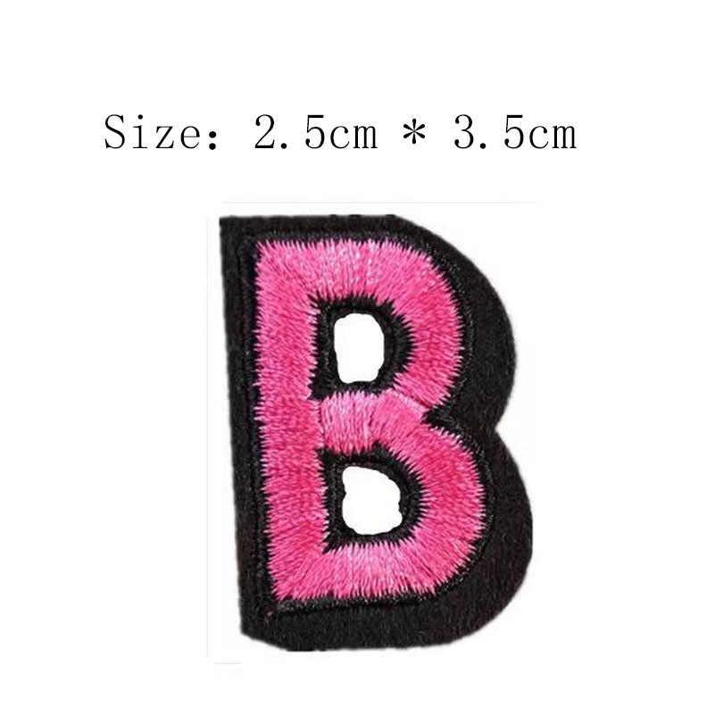 1 pièce flocage tissu broderie patch A-Z 26 lettres repasser sur coudre sur les vêtements ou les sacs casquettes ou robe appliques patchs