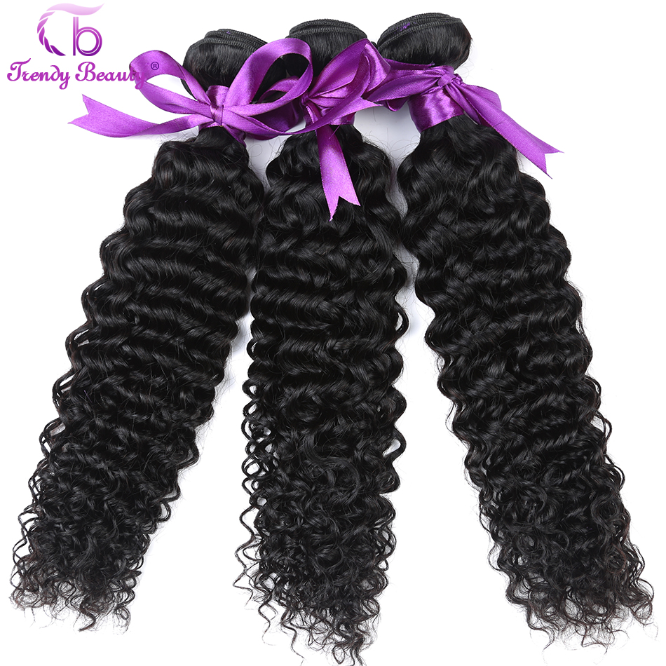 Brazilian Kinky Curly 3 Bundles a Lot Non Remy 100% Human Hair Extensions Weaving Natural Black Color 8-30 Inches Trendy Beauty