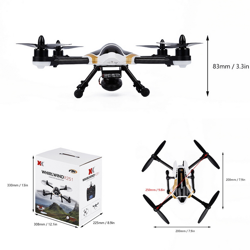 Original Brushless Motor 3D 6 axle Gyro Mode RC Racing FPV Quadcopter for XK X251