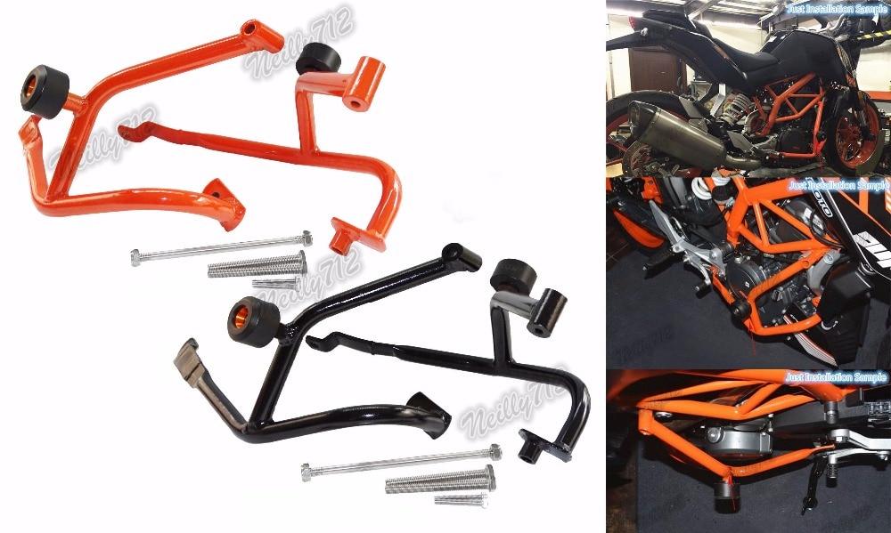 подчиняются левый и правый Двигатель бампера краш-баров Рама протектор для KTM Дюк 390 2014 2015 2016