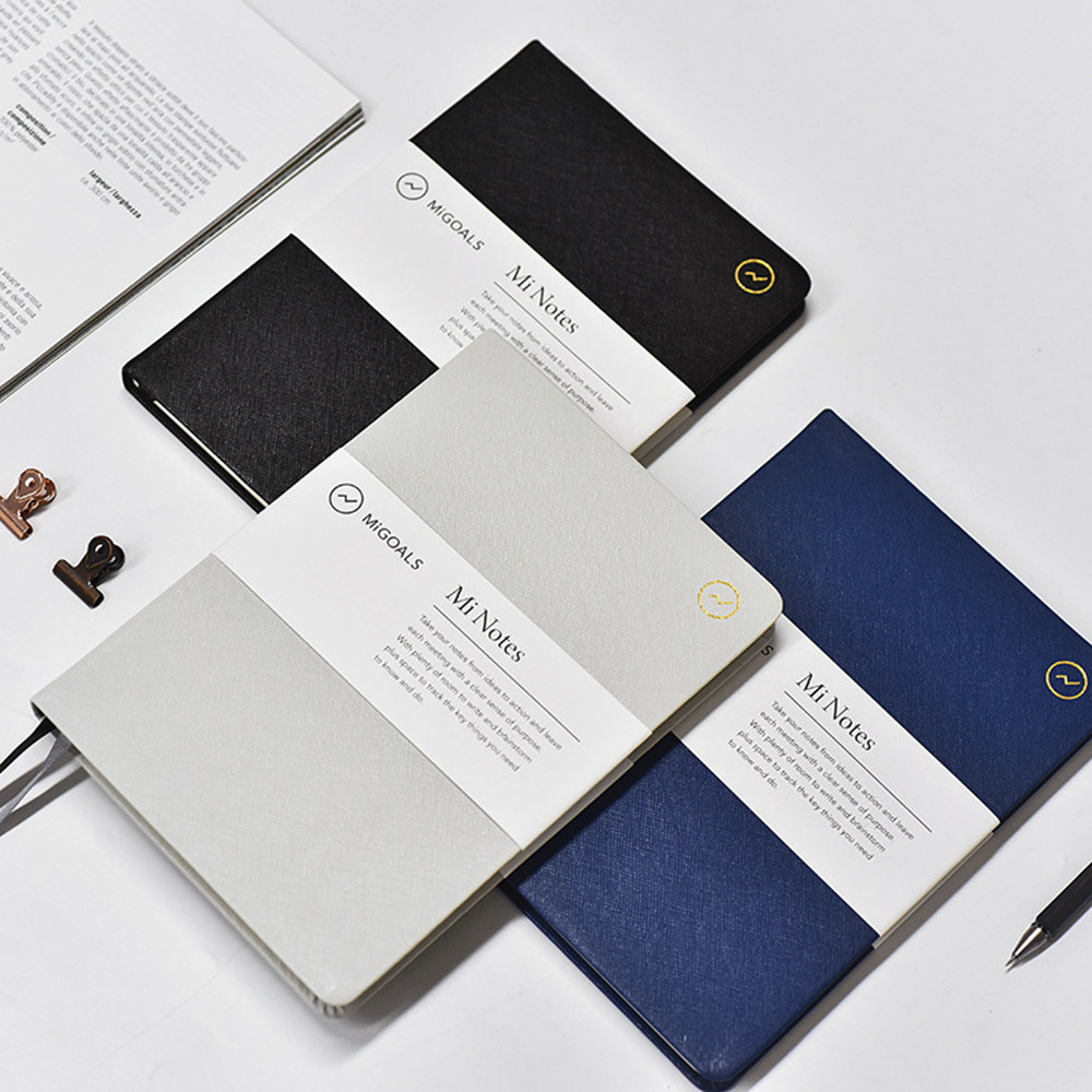 Fashion A5 PU Leather Notebook Notepad Simple Bullet Journal the Office & School Supplies Writing Notebooks Journals Diary Memos cute nature animal plant a5 notebook 32 page notepad diary journal office school supplies free shipping