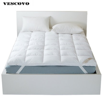 Top Quality Brand White Duck Feather Filler Bed Mattress 100 Cotton