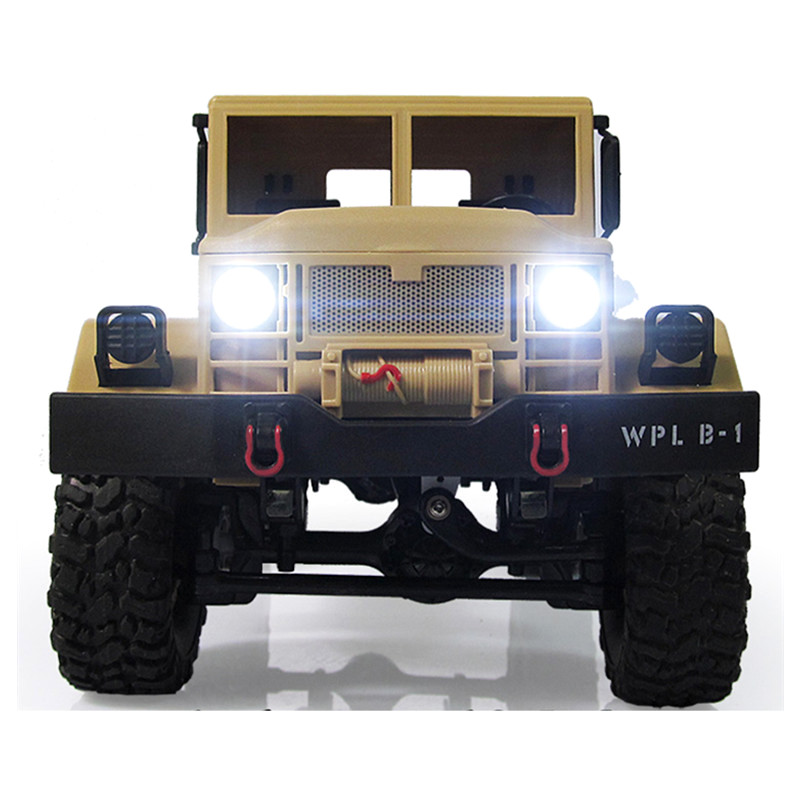 New Arrival WPL WPLB-1 1/16 2.4G 4WD RC Crawler Off Road Car With Light RTR Toy Gift For Boy Children new arrival wpl wplb 1 1 16 2 4g 4wd rc crawler off road car with light rtr toy gift for boy children