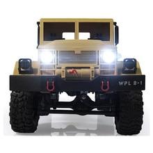 Neue Ankunft WPL WPLB-1 1/16 2,4G 4WD RC Raupen Offroad Auto Mit Licht RTR Spielzeug Geschenk Für Jungen kinder