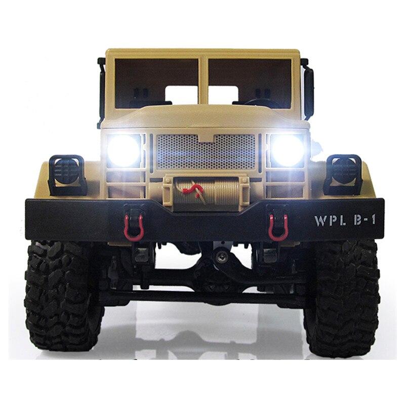 Nuovo Arrivo WPL WPLB-1 1/16 2.4G 4WD RC Crawler Off Road Auto Con La Luce RTR Giocattolo Regalo Per Il Ragazzo bambini