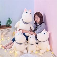 цена на Lovely Cartoon White Hippo Plush Toys Stuffed Animal Hippos Soft Plush Doll Toy Children Toys Girls Birthday Gift