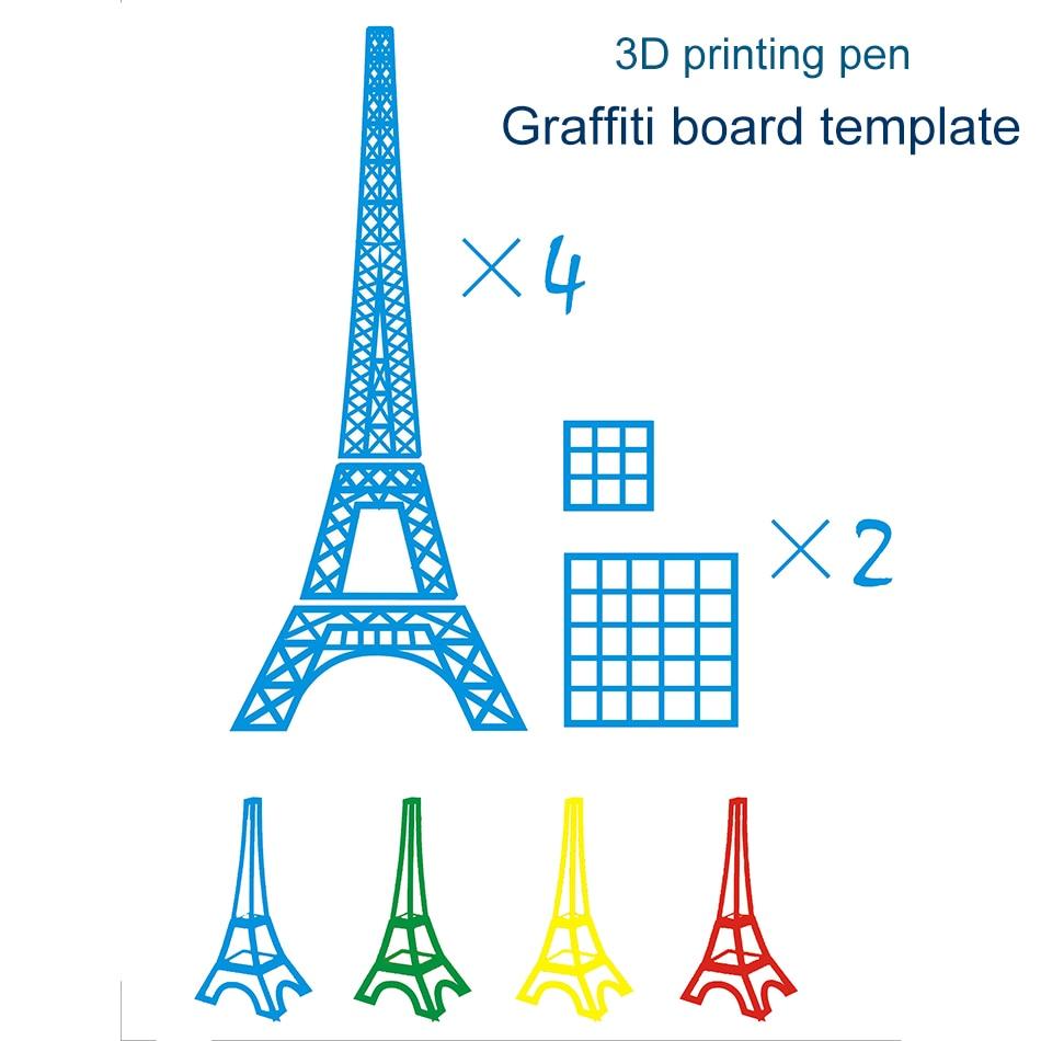 Kids 3D Pen Necessary Help 3D Printing Pen Graffiti Board Template Copy Board 20 Random Special Paper 3D Pen Graffiti Template