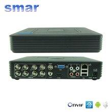 Smar Mini Sistema de Seguridad CCTV 8CH D1 Lleno H.264 HDMI DVR 8 canal 720 P 1080 P NVR Híbrido Dvr Móvil DVR RS485 PTZ Caliente
