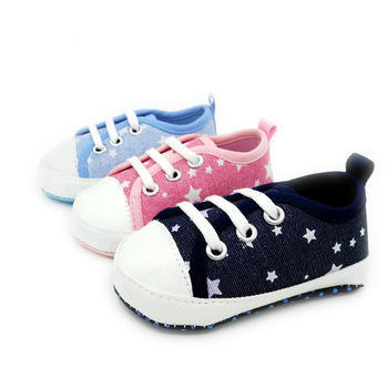 Four Seasons Fashion classic Boys and Girls Five-pointed star casual Baby Shoes soft Bottom 0-1 Years old Baby Toddler Shoes