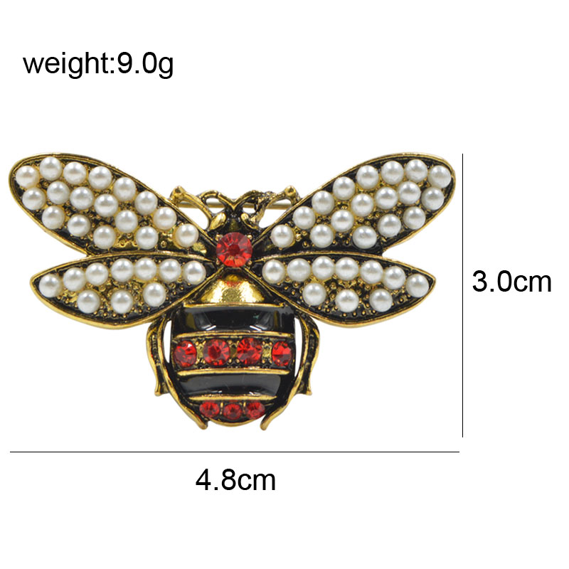 CINDY XIANG 2 Colors Choose Rhinestone and Pearl Bee Brooches for Women Vintage Jewelry Fashion Insect Brooch Pin High Quality 2