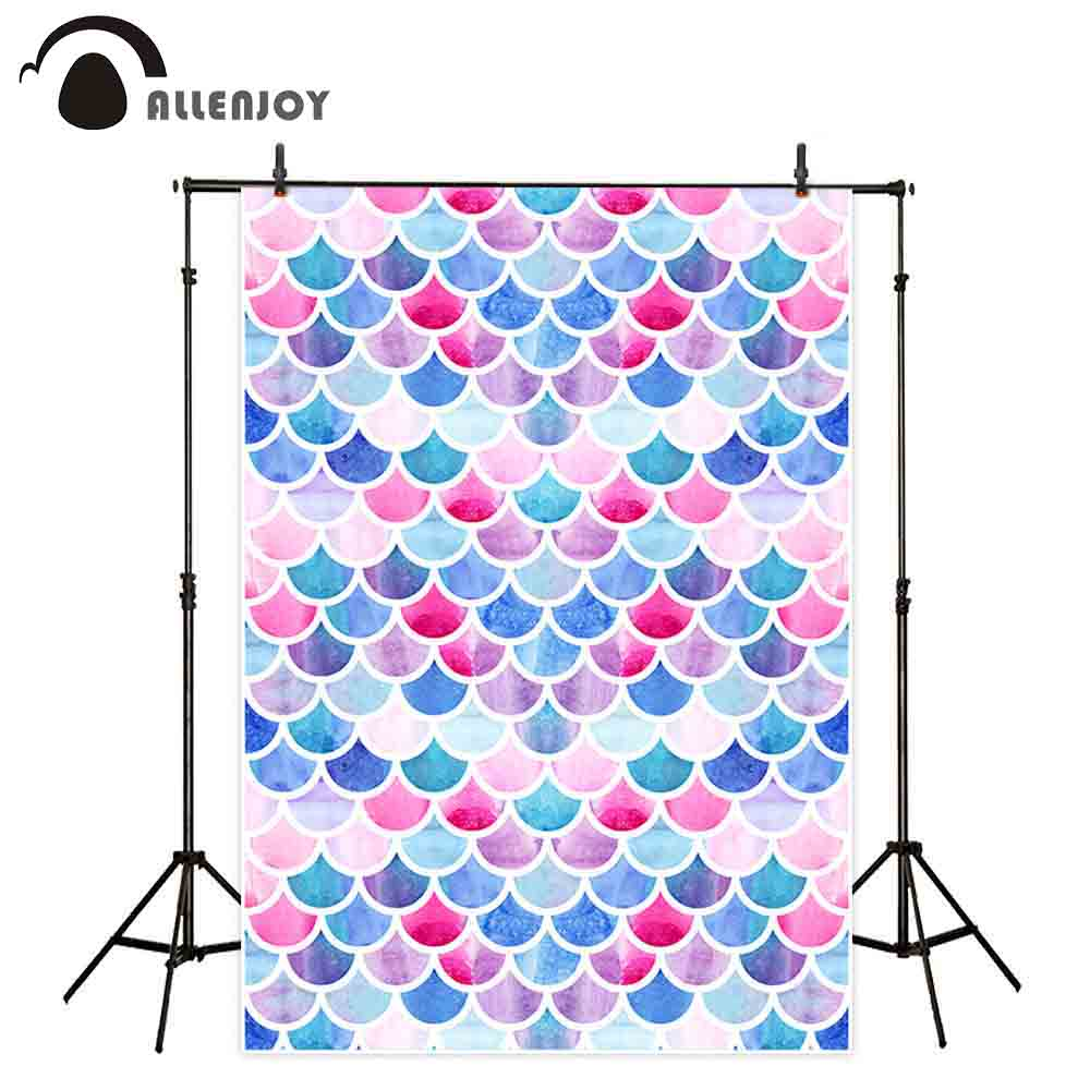 Allenjoy backdrop wallpaper colors mermaid fish bright scales abstract summer baby chidren birthday background photography