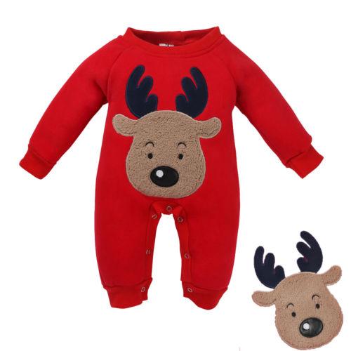 Christmas, Long, Baby, Deer, Girl, Cotton