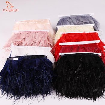 ChengBright New 10Yards Goose feather Ostrich feather Trim Fringe Diy apparel Decorative Craft Feather Trim Feather Ribbon Plume фото