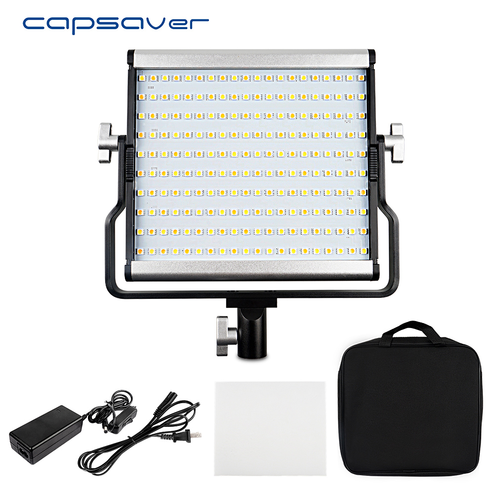capsaver L4500 Portable Photography Lighting LED Video Light Metal Panel Lamp Bi-color 3200K-5600K Studio Photo Camera Shooting