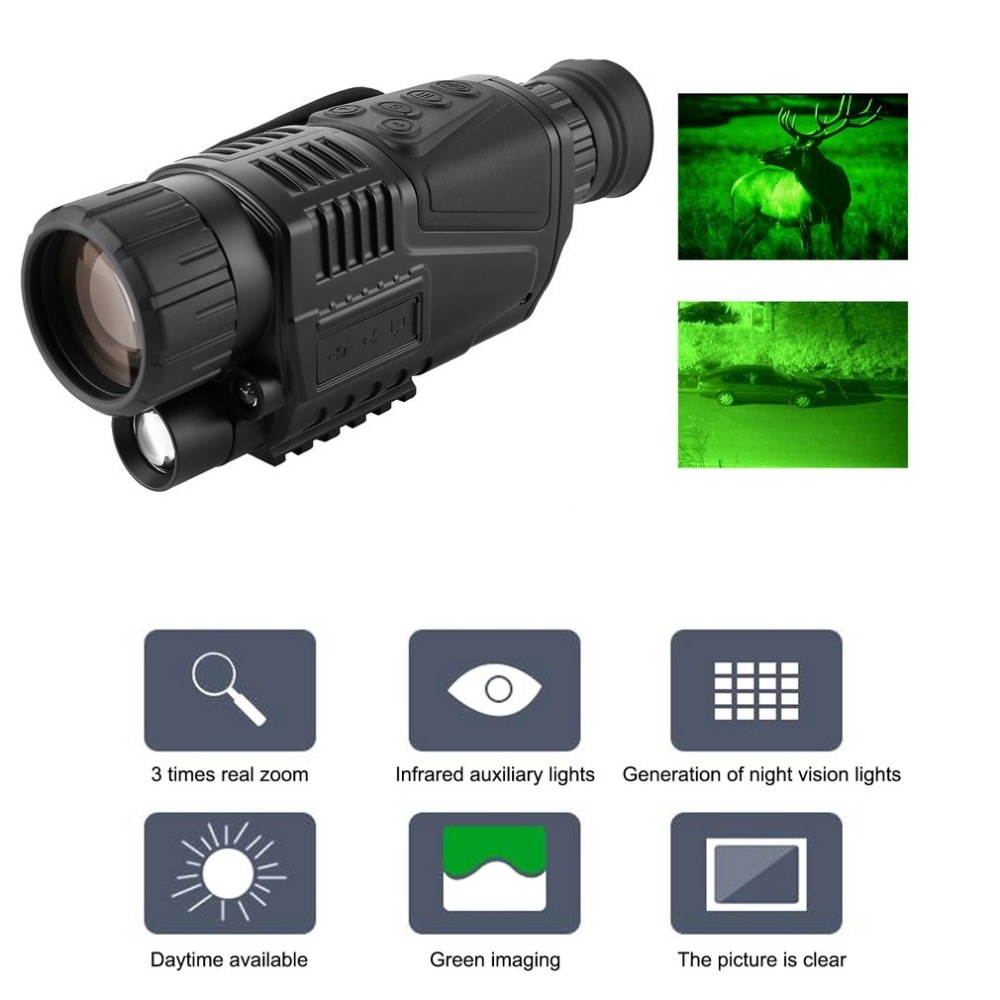 Night-Vision Monocular Tactical Infrared Night Vision Telescope Military HD Digital Monocular Telescope Night Time Navigation цена