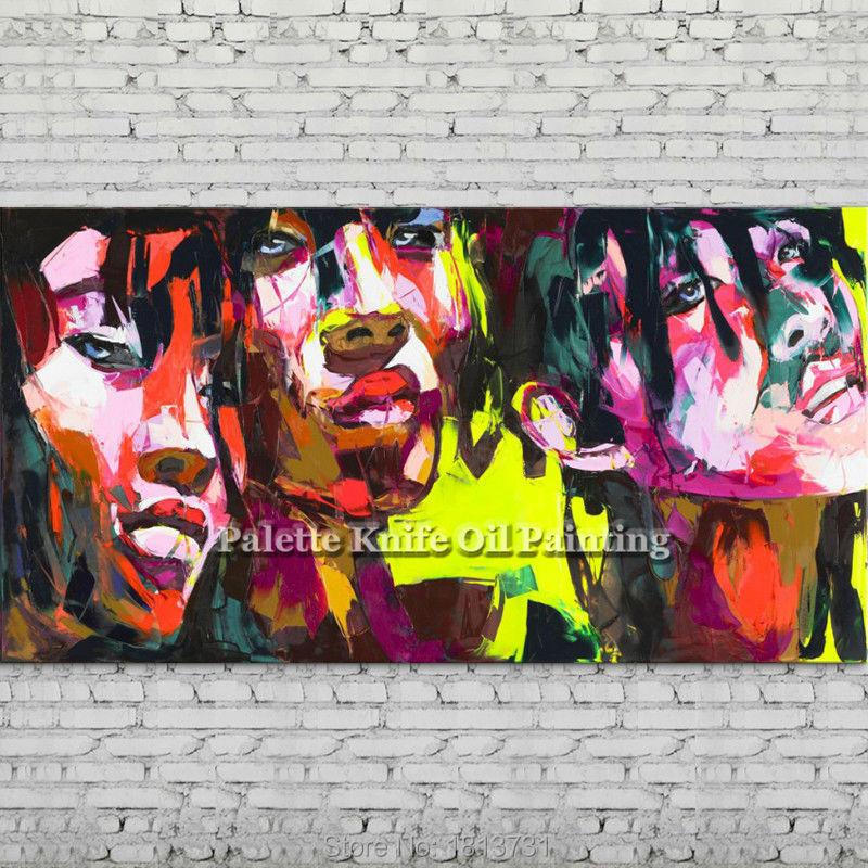 Palette knife portrait Face Oil painting Character figure canva Hand painted Francoise Nielly wall Art picture for living room96Palette knife portrait Face Oil painting Character figure canva Hand painted Francoise Nielly wall Art picture for living room96