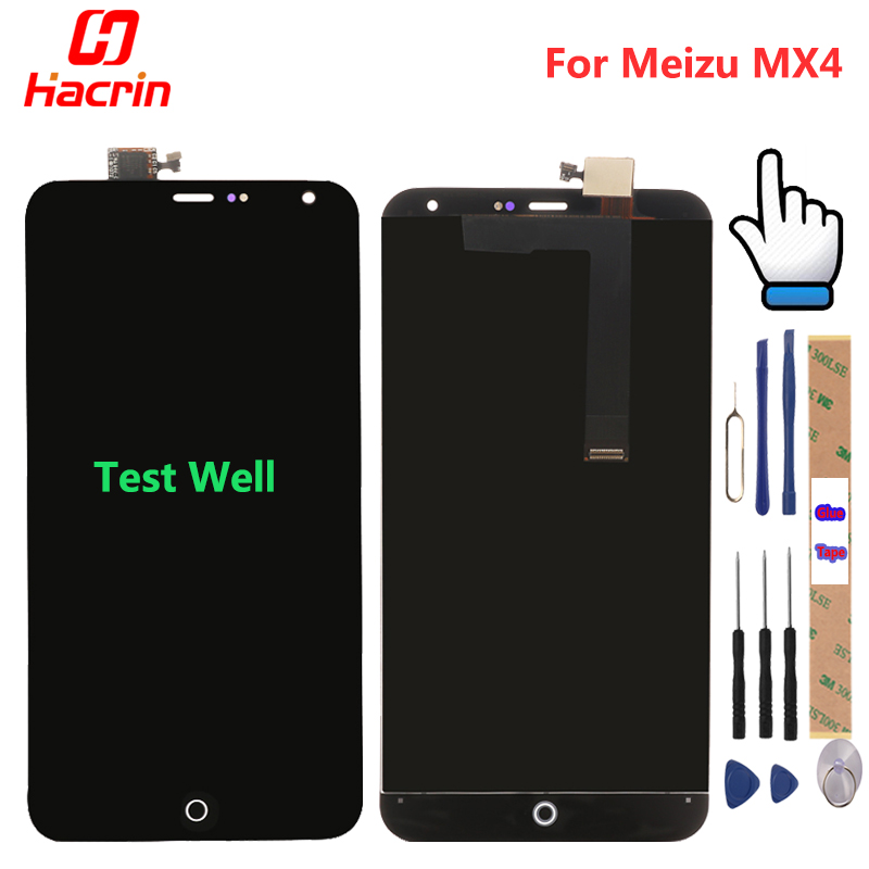 Meizu MX4 LCD Display Touch Screen + Tools Premium Repair Replacement Accessory For Meizu MX 4 mobile phone Hacrin