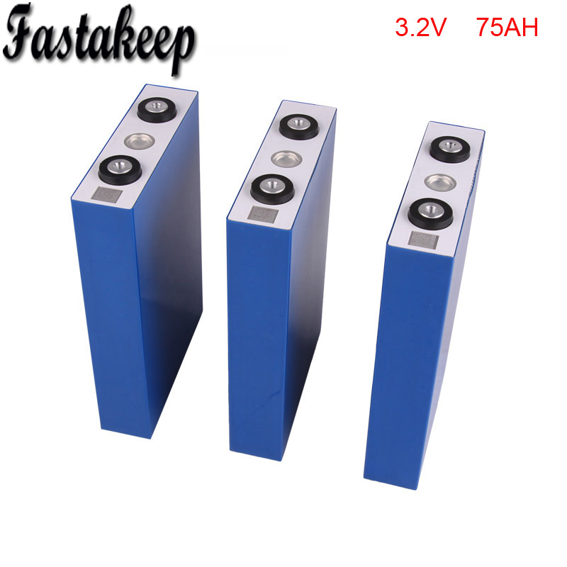 все цены на 4pcs/lot 3.2v 75ah rechargeable lifepo4 battery for energy storage system