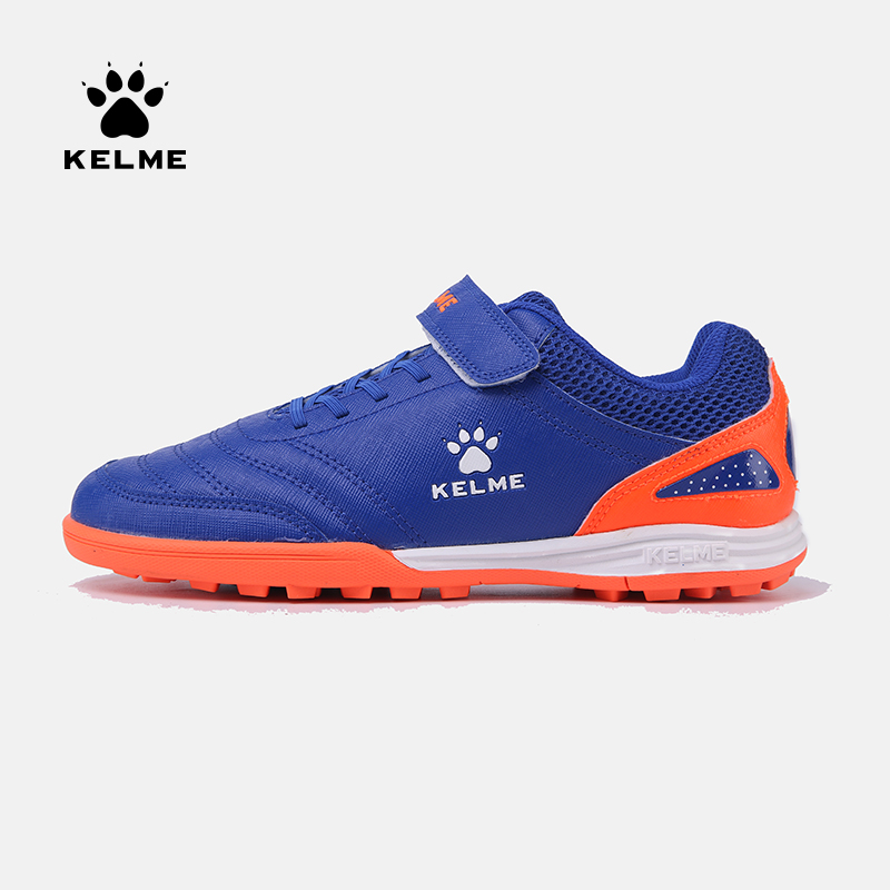 KELME Outdoor Indoor Sports Soccer Shoes For Children Kids TF nail shoes artificial grass soccer training