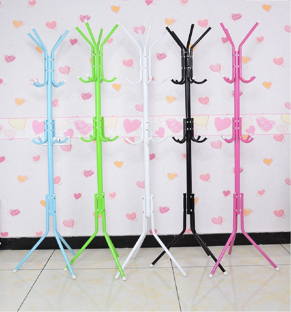The floor coat rack hanger The bedroom clothes rack Simple fashion iron hanger free shipping 2016 new coatrack floor hanger bedroom floor racks non wood special offer fashion simple coatrack