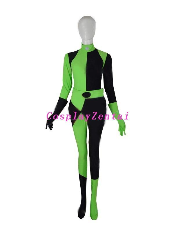 Kim Mümkün Shego Kostyumu Qadın Super Villain Halloween qadın - Karnaval kostyumlar - Fotoqrafiya 1
