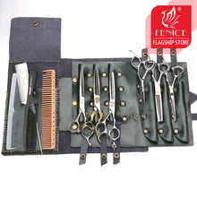 Fenice Hair Scissors Bags Handbag Leather 4 Colors Rolling Bags 6 Scissors Holster High Quality Barber Tools Bag Scissors Pouch high quality pu leather barber hair scissors pet scissors bag salon hairdressing holster pouch case hair styling tools