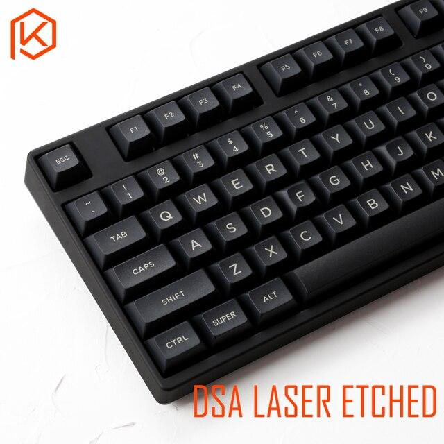 dsa pbt top Printed legends black Keycaps Laser Etched gh60 poker2 xd64 87 104 xd75 xd96 xd84 cosair k70 razer blackwidow