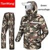 Tianwang waterproof rainproof Rain Jacket Women & Men's suit hood raincoat for motorcycle raincoat outdoors camping fishing 1