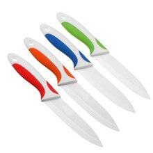 Hoomall 3/4/5 дюймов белый красочной ручкой Керамика нож для очистки овощей Кухня ножи Пособия по кулинарии инструмент Керамика Ножи высокое качество