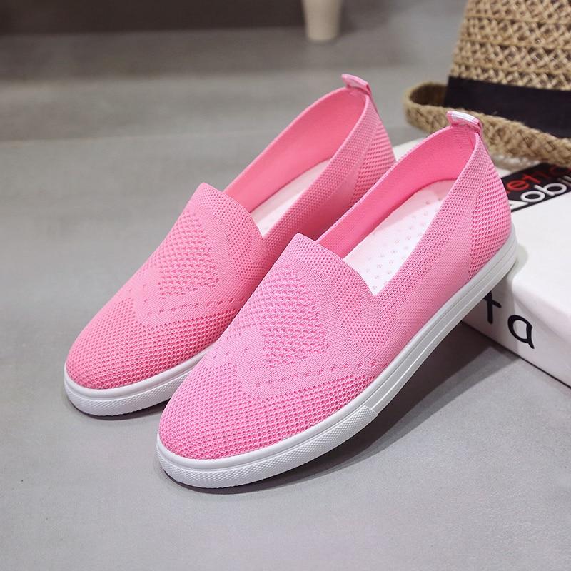 Hot summer mocasines zapatos de las mujeres los zapatos de aire respirable mujer
