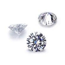 лучшая цена 1pcs 6mm 0.8ct GH color Loose Moissanite Round Cut lab grown Moissanite Test Positive Diamond Loose Gems Stones