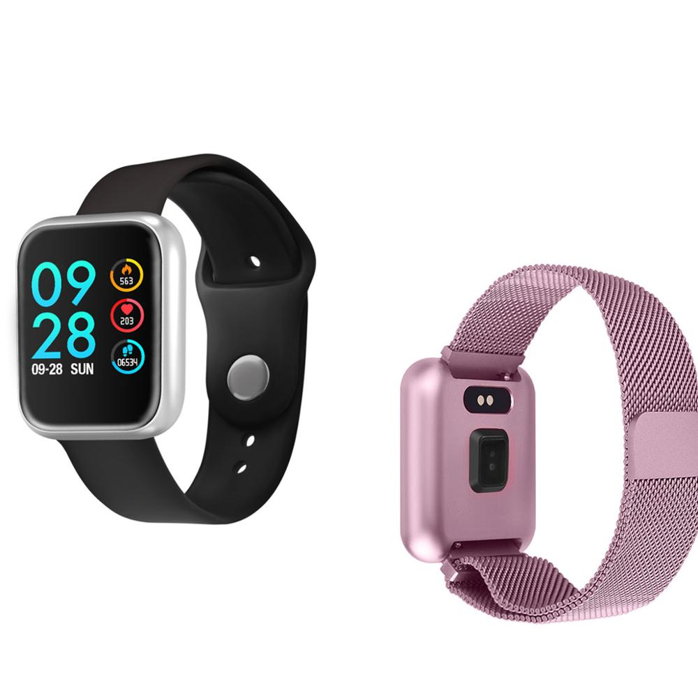 P70 Smart Watch Waterproof IP68 Blood Pressure Fitness Heart Rate Monitor Women Sport Smartwatch for Apple iPhone Android Pk B57