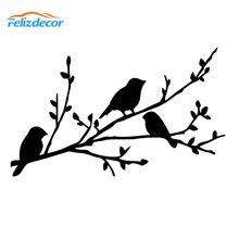 17*10 cm Bella Uccelli Di Taglio Della Decalcomania Del Computer Portatile O in Auto Paraurti Lunotto posteriore Decalcomanie di Arte Impermeabile bianco nero l838
