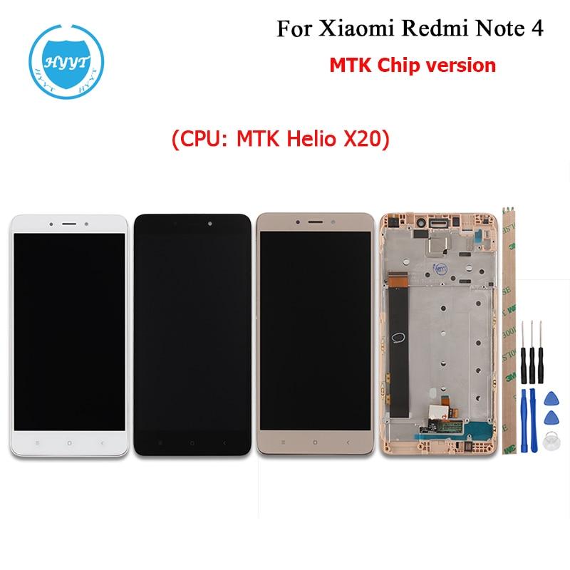 imágenes para Oro negro Blanco Para Xiaomi Redmi Nota 4 Pantalla LCD y Pantalla táctil Con Marco O No 5.5 Pulgadas Probado Xiaomi Redmi Nota 4 + Herramientas