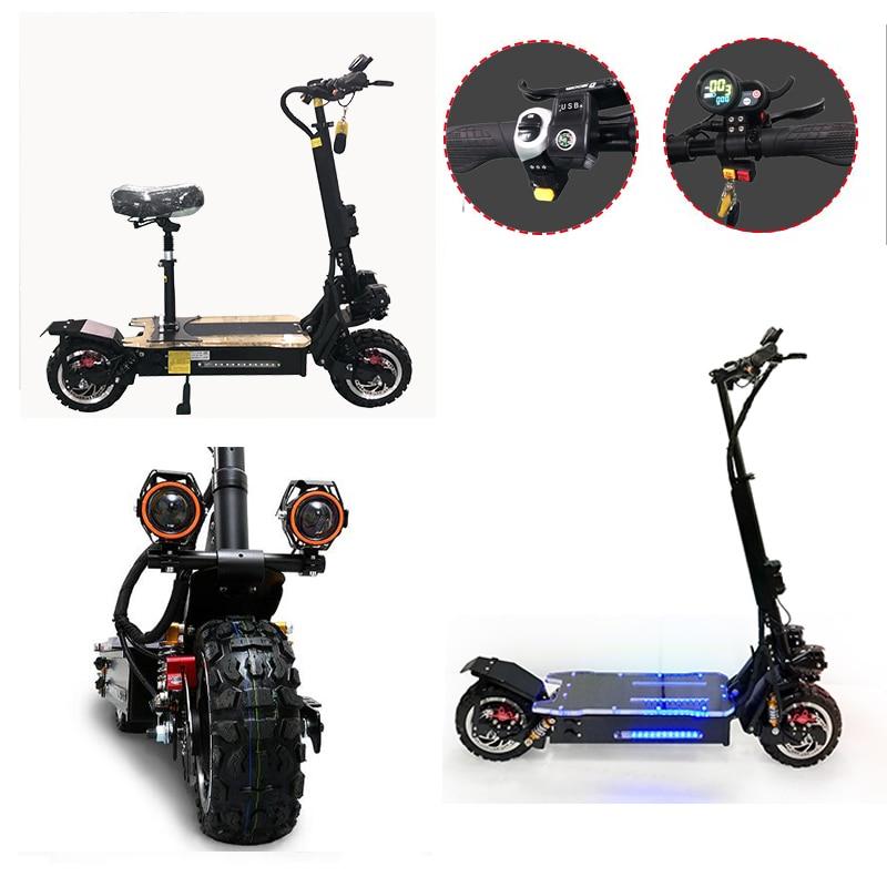 60V3200W Scooter électrique 11 pouces hors route 80 KM/H batterie moteur électrique adulte coup de pied e scooter pliant patinete electrico adulto