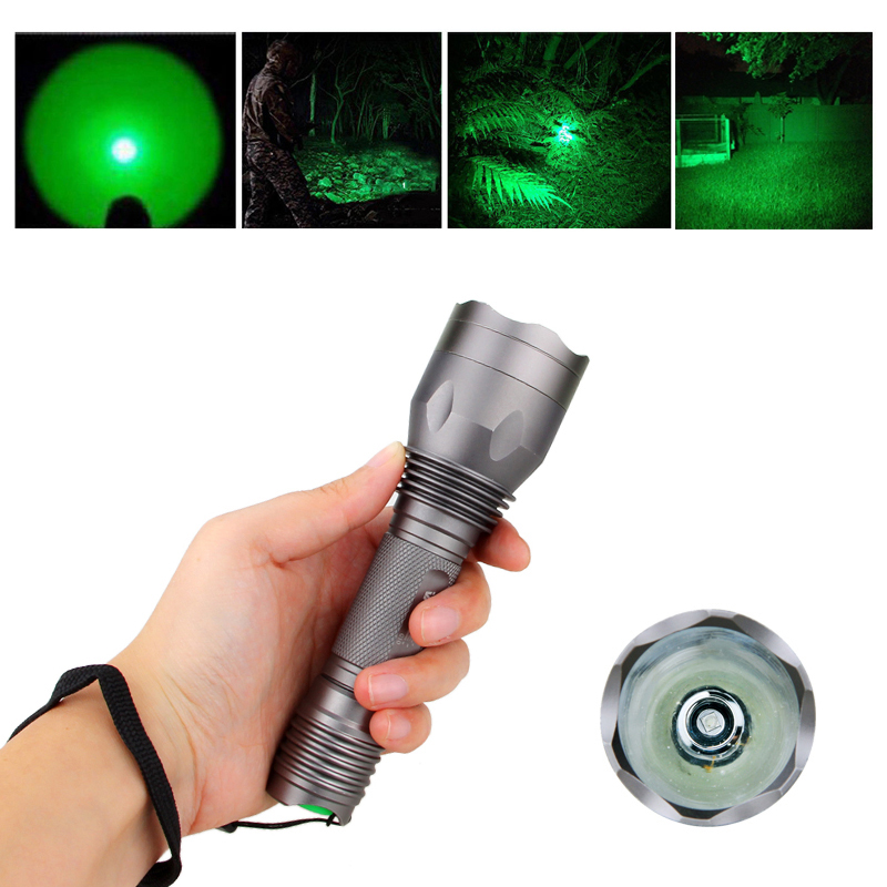 Vastfire Waterproof 350 Lumens 250 Yards Green LED Coyote Hog Fox Predator Varmint Hunting Flashlight Torch