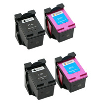 2 шт. черный 2 шт. color ink cartridge for hp 21 xl Deskjet 3915 3920 D1530 22XL D1311 D1320 D1455 F2100 F2280 F4100 F4180