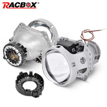 RACBOX Auto Car Headlight 3.0 inch HID Bi-xenon For Hella 3R G5 5 Projector Lens Replace Headlamp Retrofit DIY D1S D2S D3S D4S