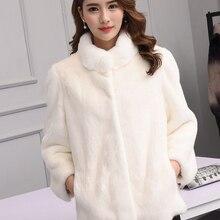 e7ce523b6c75 Abrigo de piel de visón crepúsculo versión coreana femenina era delgado  2018 nuevo abrigo de piel