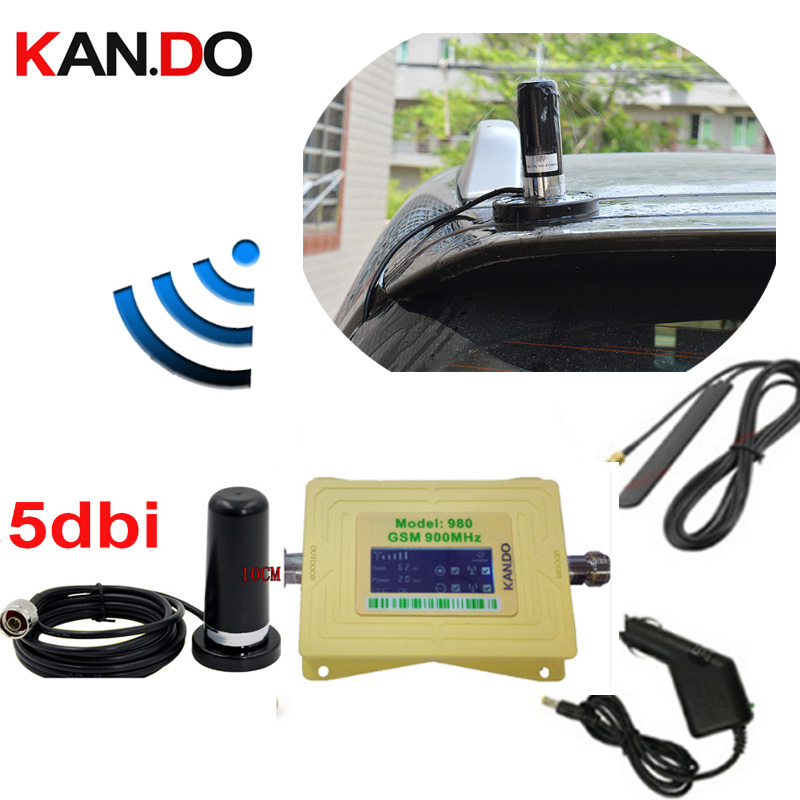 Big Magnet Base Anenna 60dbi Beige GSM 900mhz Mobile Phone Signal Booster 2G Network Signal Repeater Gsm Amplifier FOR Car