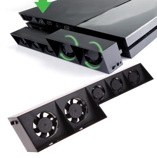 Promoción 2016 más nuevo usb turbo ventilador de refrigeración 5 refrigerador externo de control de temperatura para sony playstation 4 ps4