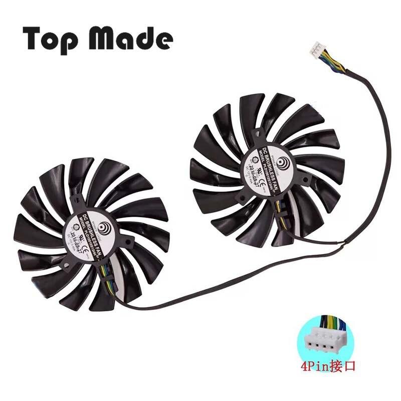 Diámetro 95mm 2 unids/set para MSI GTX1080Ti/1080/1070Ti/1070/1060 RX580/570 Armadura VGA ventilador procesador enfriador de disipador de calor