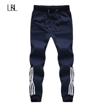 2018 New Fashion Tracksuit Bottoms Mens Casual Pants Cotton Sweatpants Mens Joggers Striped Pants Gyms Clothing Plus Size 5XL Casual Pants