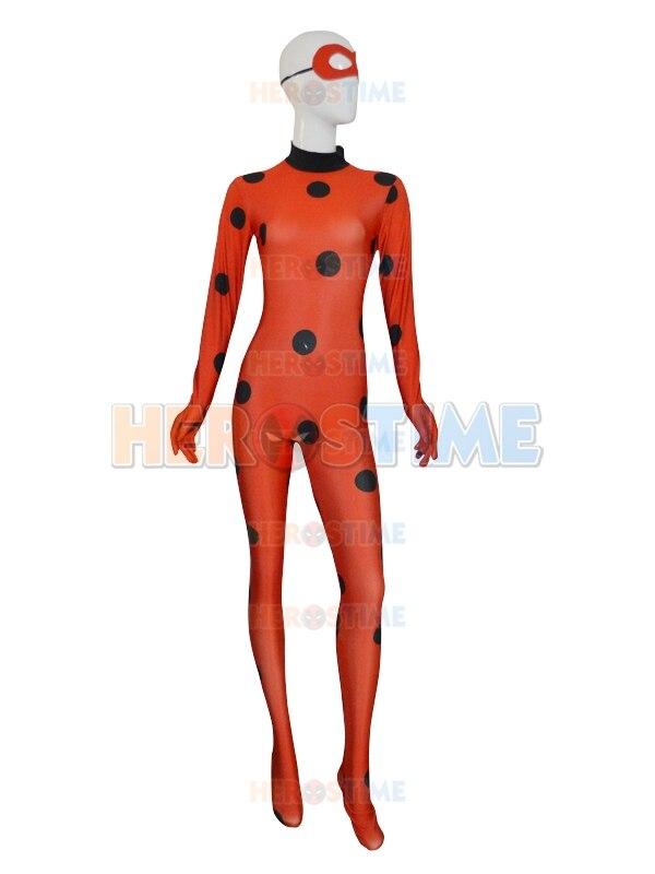 High Quality Custom Made Ladybug Cosplay Costume Marinette Cosplay Female Women Girls Costume Ladybug Spandex Suit