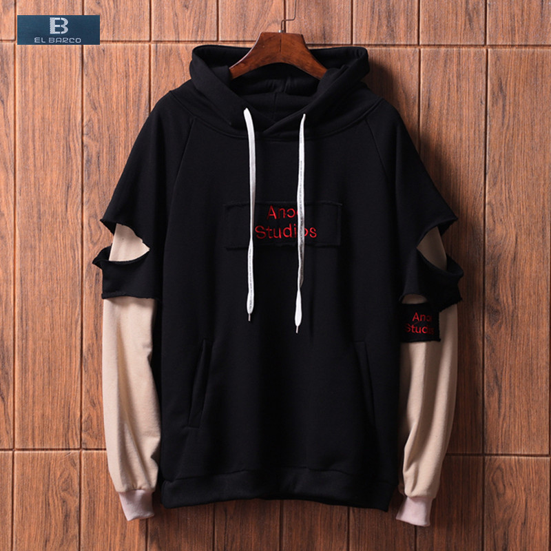 Wool Warm Outdoor Pullover Hoodies Casual Sweaters Young Men Long Sleeve Classic Sea-Ray-Logo-Blacks