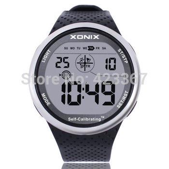 Mens Sports Watches Self Calibrating Digital Watch Waterproof 100m Multifunctional Swim Diver Outdoor Wristwatch 1