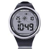 Xonix mens reloj deportivo digital resistente al agua 100 m reloj chrono auto calibración correa de silicona multifunción de natación al aire libre