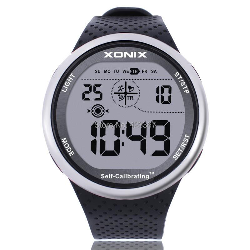 XONIX Mens Sport Montre Numérique Étanche 100 m Chrono Auto Calibrage Bracelet En Silicone Multifonction De Nage En Plein Air Montre Bracelet | AliExpress