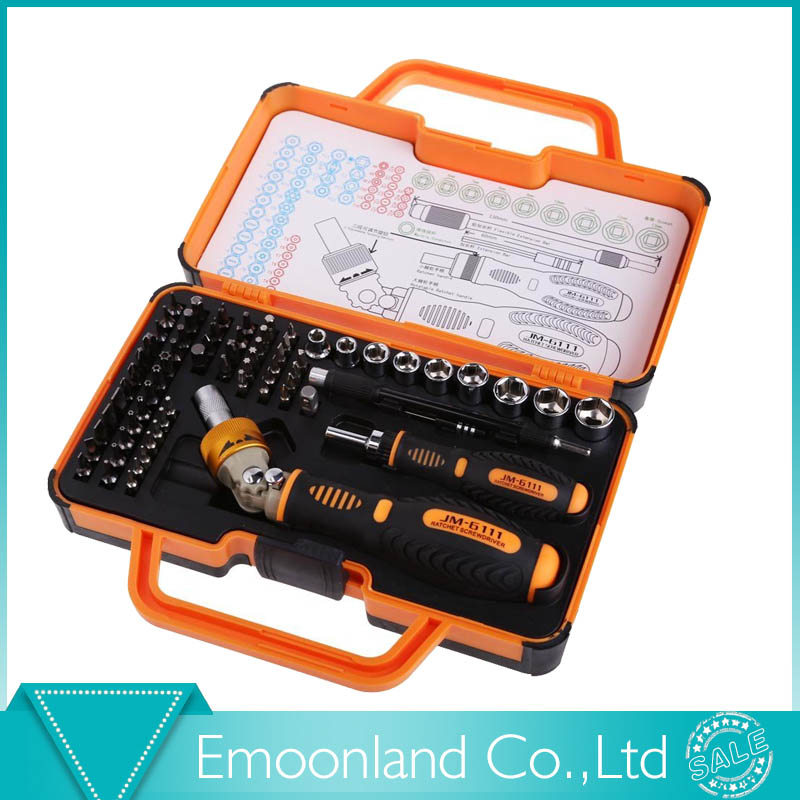 ФОТО Professional JAKEMY JM-6111 69 in 1 Hardware Screwdriver Set for Tablet, Pc, Macbook,Mobile Cell Phone Open Tool Kit