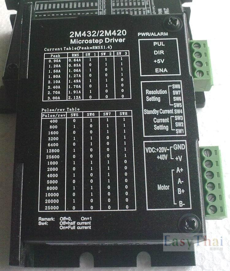New Very Economy save cost CNC system stepper motor drive 2M420 work 24V-40VDC ,out 0.9A-3.0A  2-phase stepper driver [joy] hakusan original stepper motor drive 4257 series drive maximum 64 aliquots voltage 15v 40 2pcs lot